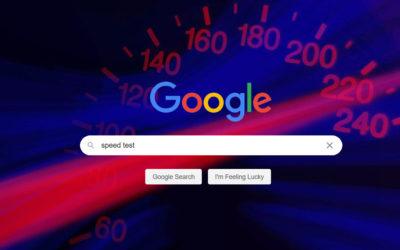 Speed test della home page di Google con PageSpeed