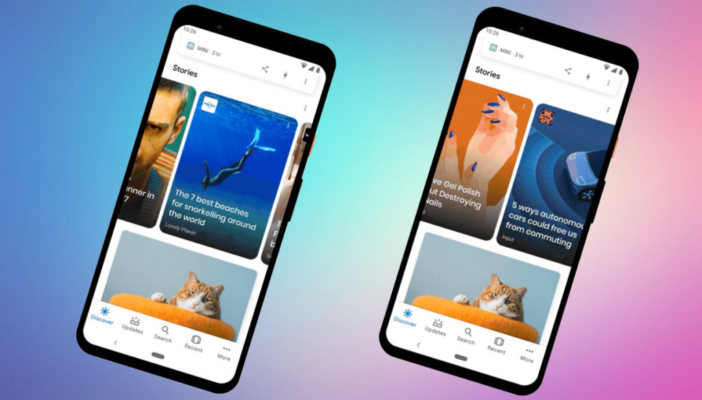 Le Web Stories in Google Discover